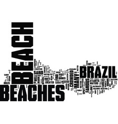 The diversity of the brazilian beaches text vector