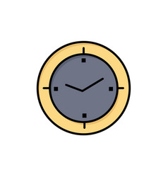 Time timer compass machine flat color icon icon vector