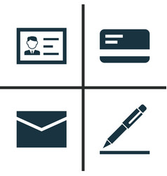 Trade icons set collection of envelope vector