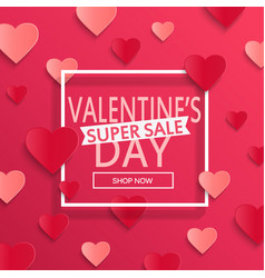 valentines day super sale background vector image