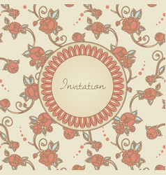 Victorian style invitation cerd vector