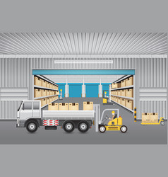 Warehouse design vector