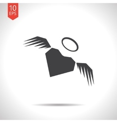 winged heart icon Eps10 vector image