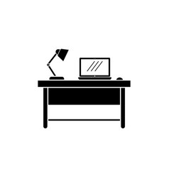 work desk icon design template isolated vector image