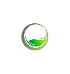 beauty green leaf organic logo vector image