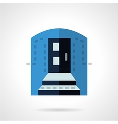 Blue color entrance flat icon vector image vector image