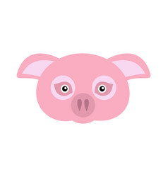 pink pig domestic animal carnival mask vector image