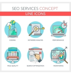 SEO Services vector image vector image