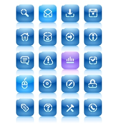 Stencil blue buttons for internet vector image