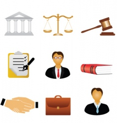 justice icons vector image vector image