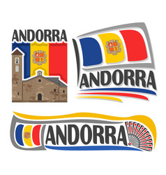 logo for andorra vector image