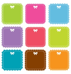 Square frames set vector image vector image