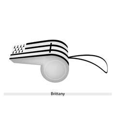 Black and White Stripe on Brittany Whistle vector image vector image
