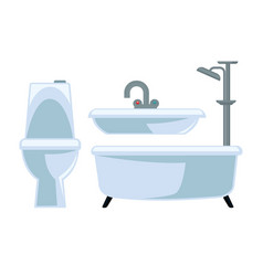 bathroom equipment set isolated on white vector image