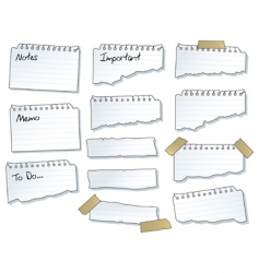 torn note pad pages vector image