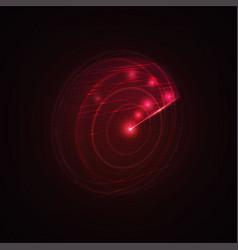 3d hud radar scanning the space vector image