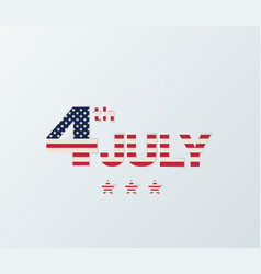 4th of july independence day background july 4th vector