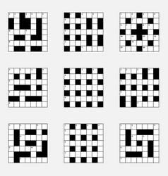 7x7 crossword puzzle set vector