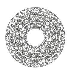 ancient chinese round pattern detailed decorative vector image