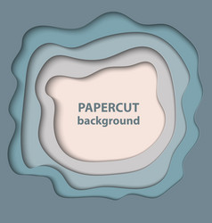 Background with pastel blue and beige color paper vector