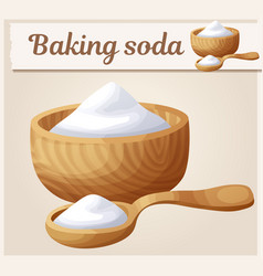 Baking soda cartoon icon series food vector