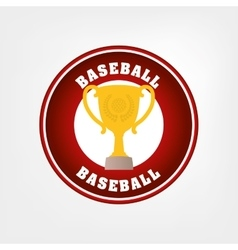 Baseball trophy cup vector
