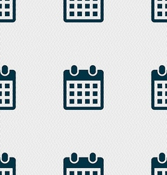 calendar page icon sign Seamless pattern with vector image