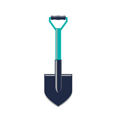 Camp shovel isolated icon vector