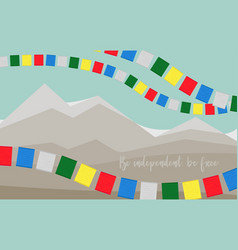 card to international tibet day be independent vector image