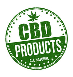 Cbd products sign or stamp vector