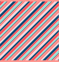 Colorful diagonal stripes seamless pattern lines vector