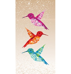 Colorful humming birds vector