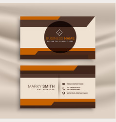 corporate business card in geometric style design vector image