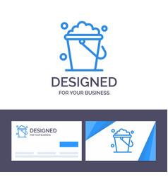Creative business card and logo template bucket vector