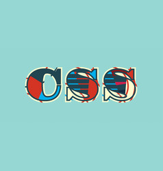 css concept word art vector image