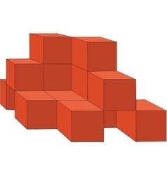 Cubes color 14 vector
