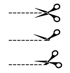 cut lines with scissors vector image