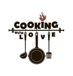 Design with kitchen utensils vector