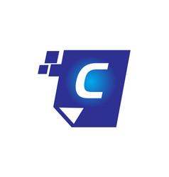 Digital paper initial c vector