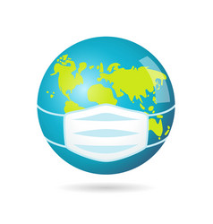 earth mask icon vector image