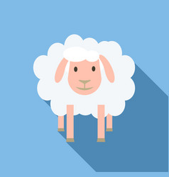 Face of sheep icon flat style vector
