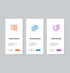 Fintech industry banking services mobile banking vector