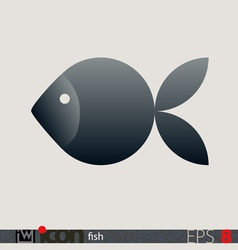 Fish Icon Logo vector image