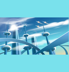 Future city landscape vector