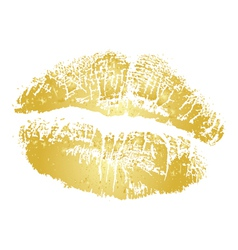 gold kiss vector image