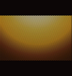 Gold metal perforated texture vector