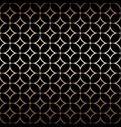 golden art deco simple seamless pattern vector image