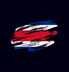 grunge textured costa rican flag vector image