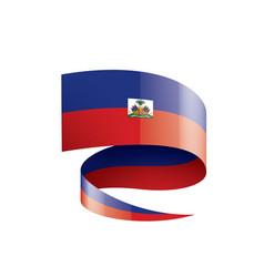 haiti flag on a white vector image