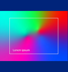 high colorful gradient background vector image